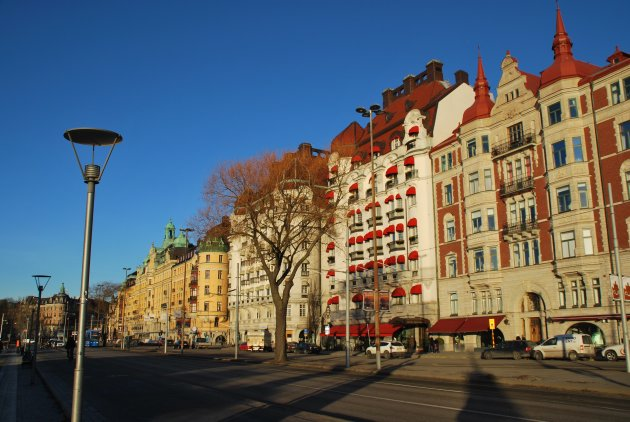 Strandvägen, de mooie boulvard van Stockholm