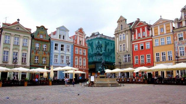Op het vierkante plein van Poznan