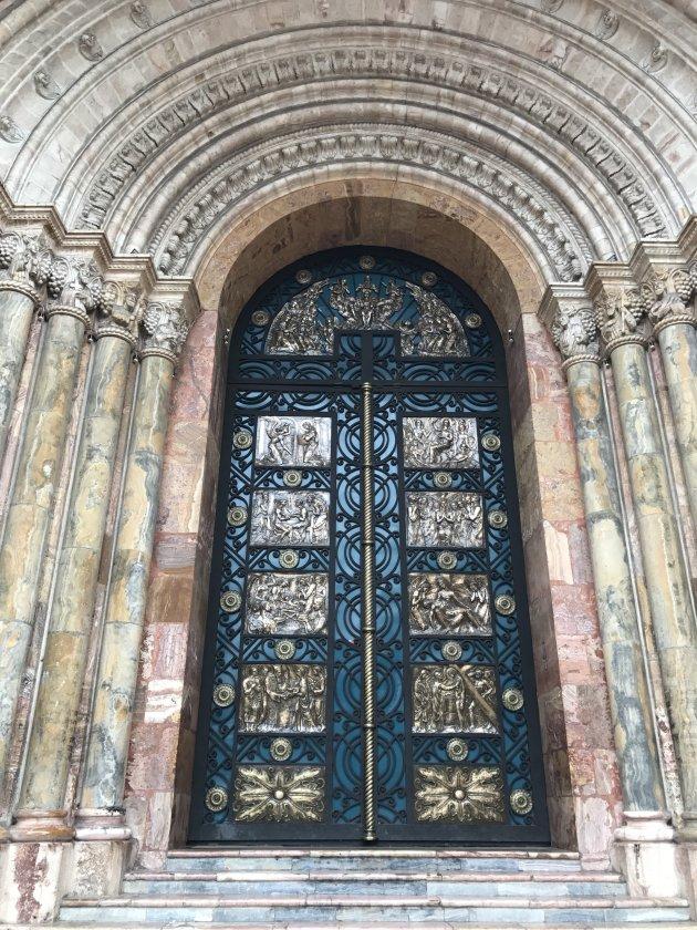 Gekleurde ingang