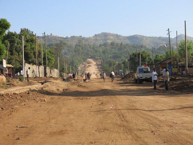 Hoofdstraat in Jinka