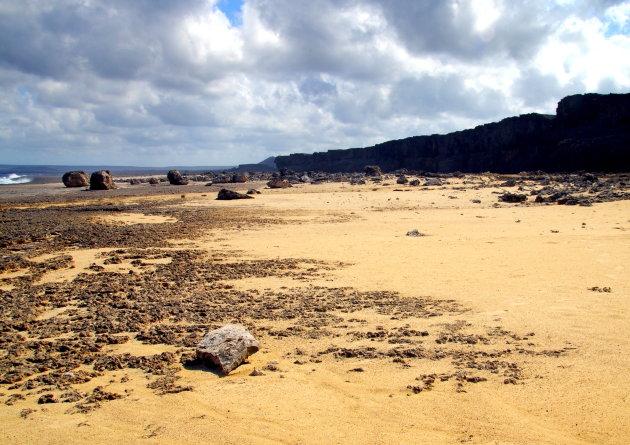 Bonaire's tsunami boulder coast