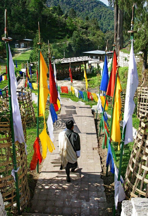 Bezoek aan de Trongsa Zhong