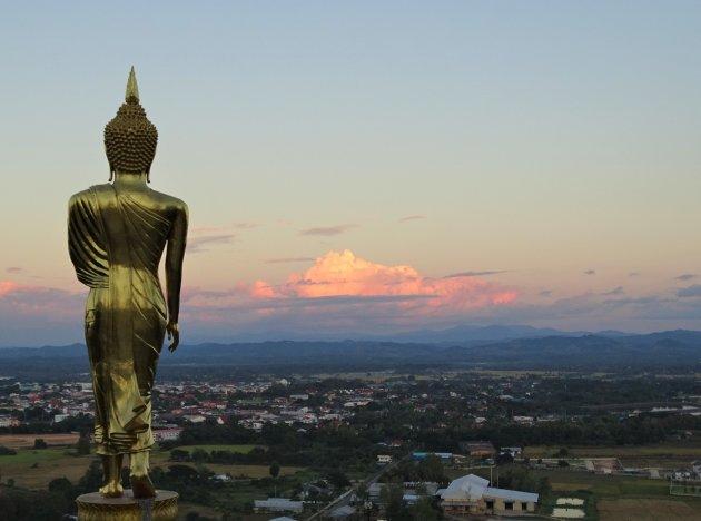 Boeddha op de berg.