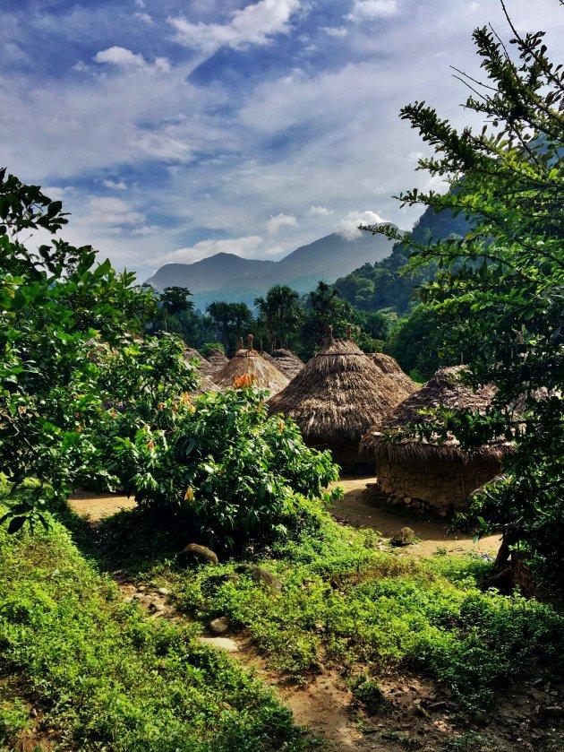 Dorpje van de Kogi indianen