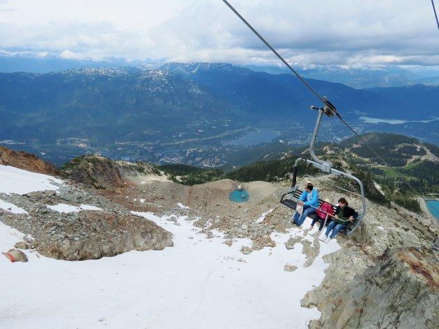 Afdaling van Whistler Mountain