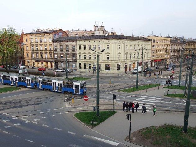 Krakau - Polen - uitzicht vanuit hotelkamer