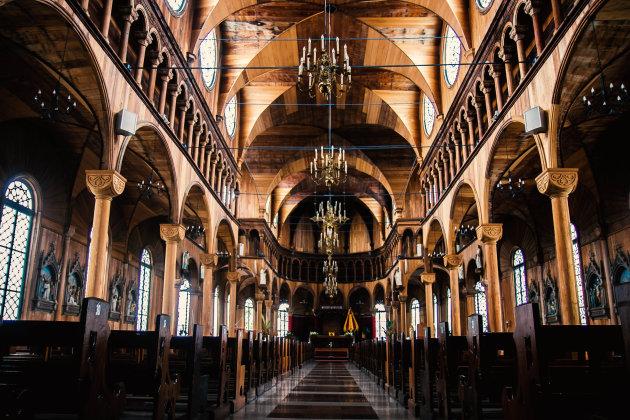Houten kathedraal