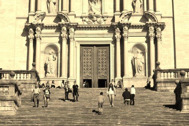 Gerona trappen kathedraal