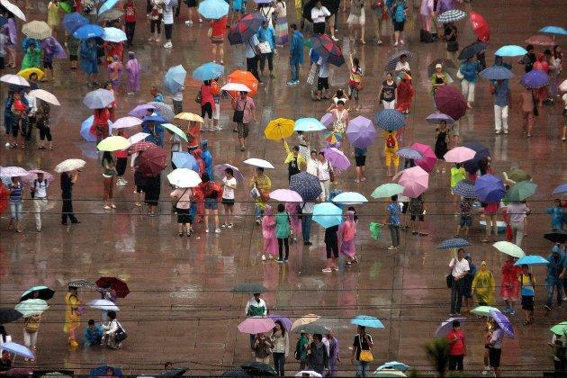Paraplu niet vergeten!