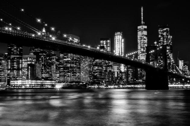 Zicht op Manhattan vanaf Dumbo