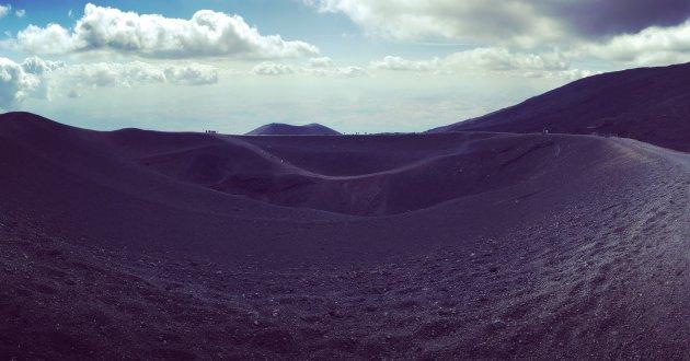 Afzien op de Etna Mongibello