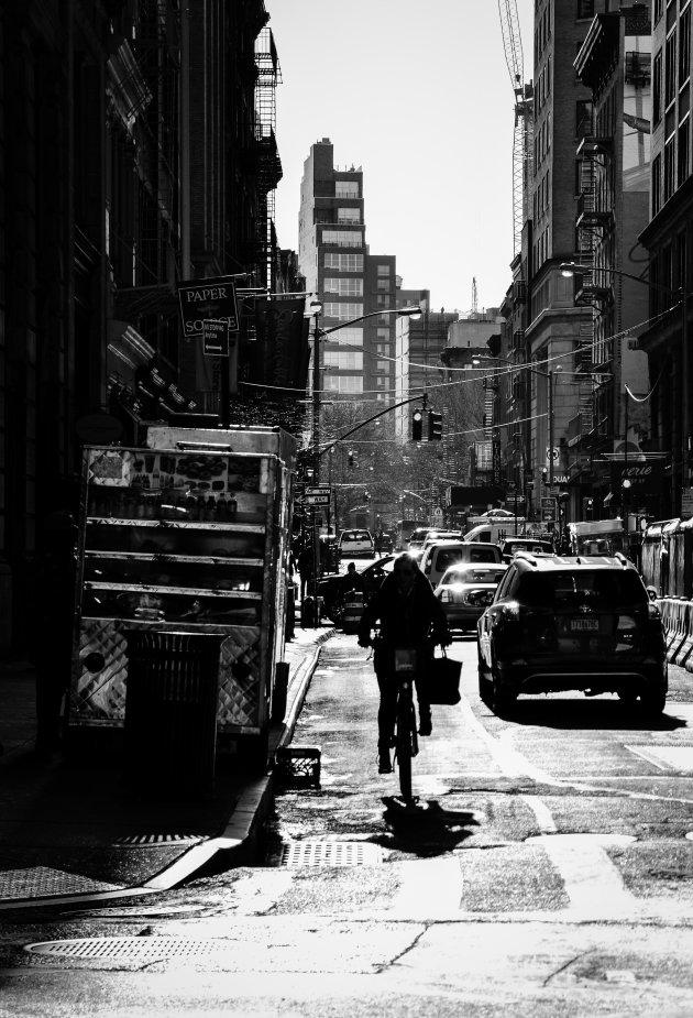 Typisch zonnige morgen in Manhattan...