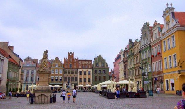 het prachtige plein van Poznan