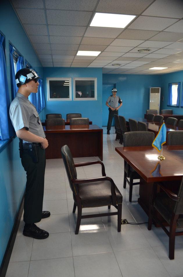 DMZ / JSA - blauwe hut!
