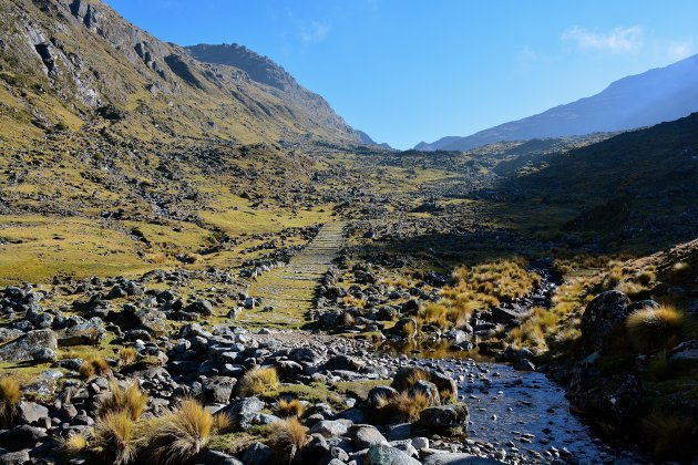 Trekking over eeuwenoude inca paden