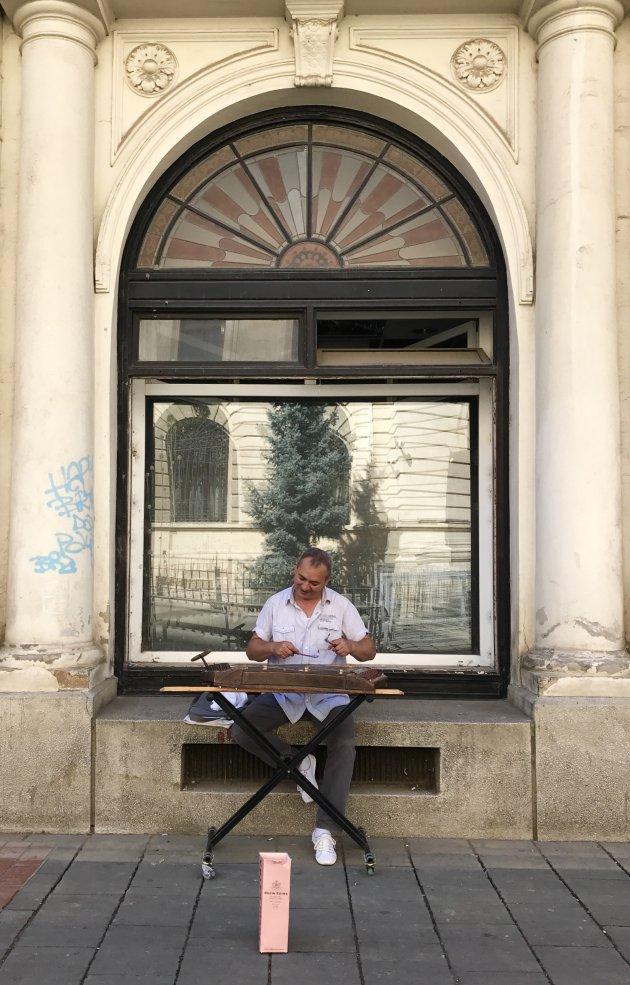 Straatmuzikant in Boekarest