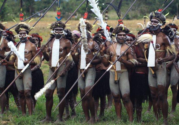 Deelnemers Baliem festival