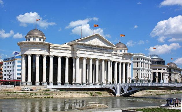 In het centrum van Skopje