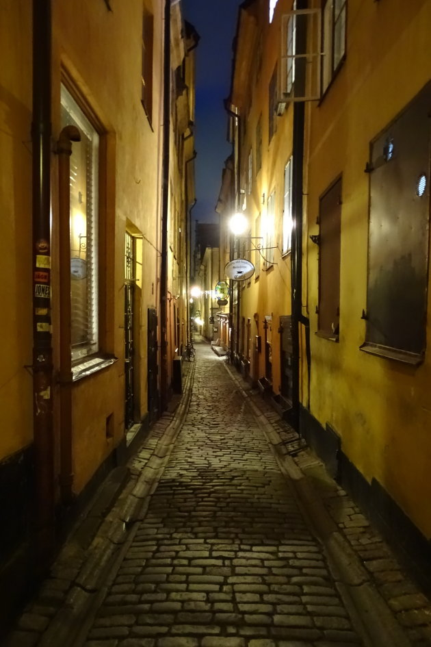 Narrow alleys in Gamla Stan, Stockholm