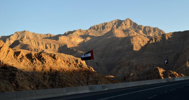 Jebel Jais bij zonsondergang
