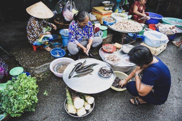 Can Tho Market op het land