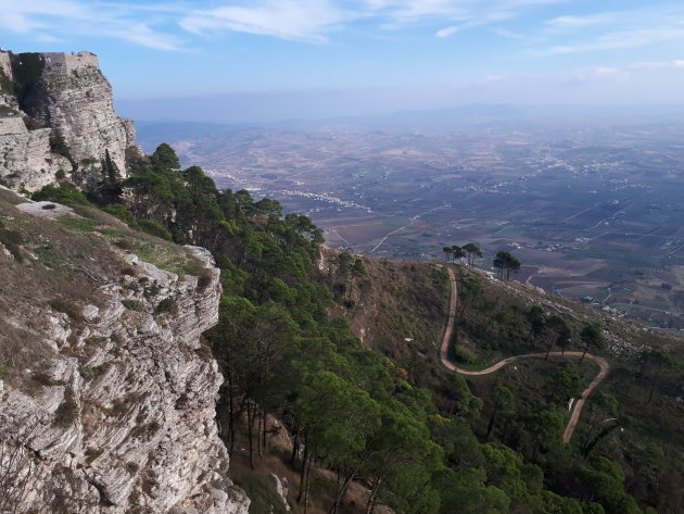 Erice view over Trapani