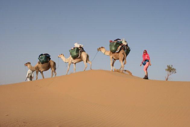 woestijn wandeling van 6 dagen (dag 2 ..)