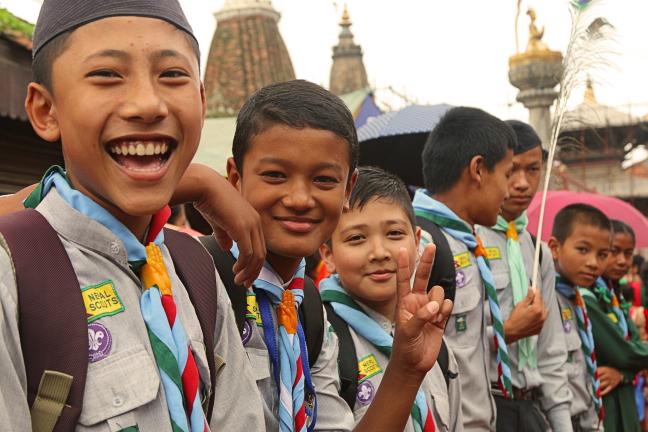 Nepal Scouts, helpers bij drukte