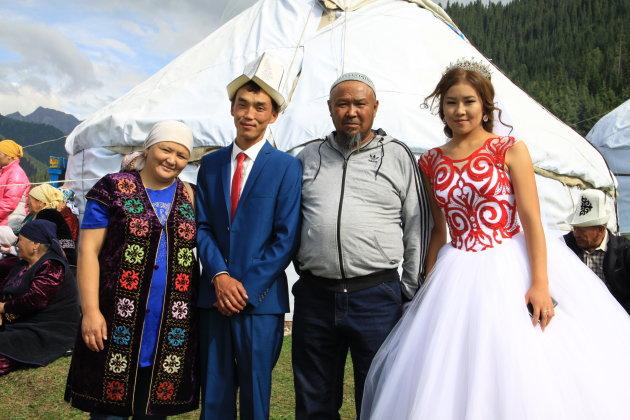 Bruidspaar in Jety Oguz