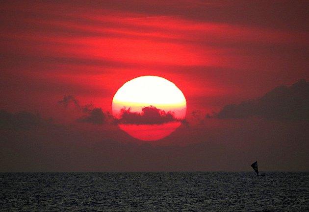 Zonsondergang bij Bali