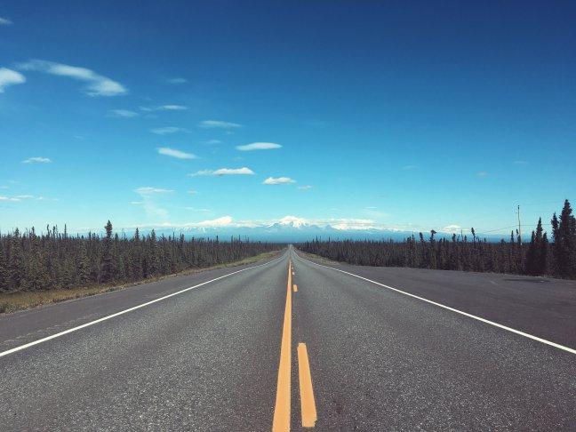 Road to Wrangler Mountains