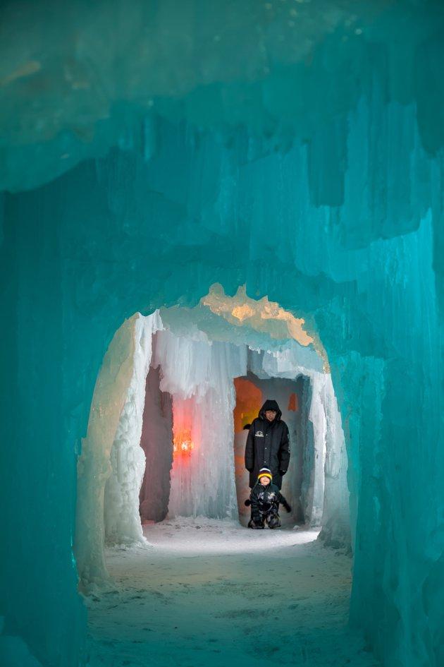 Het ijspaleis van Sounkyo