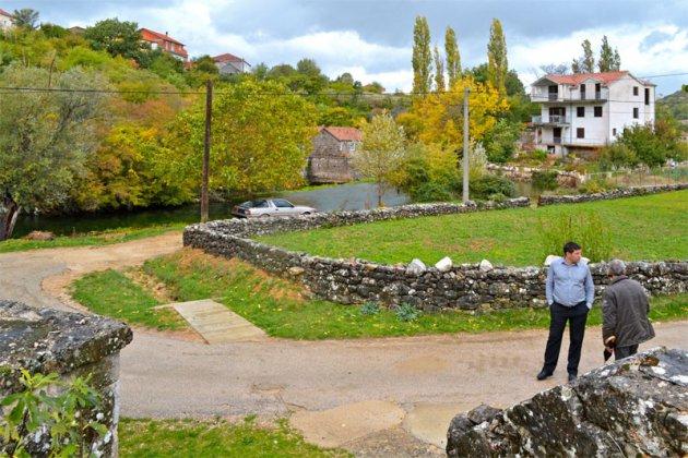 Het landschap van Trilj
