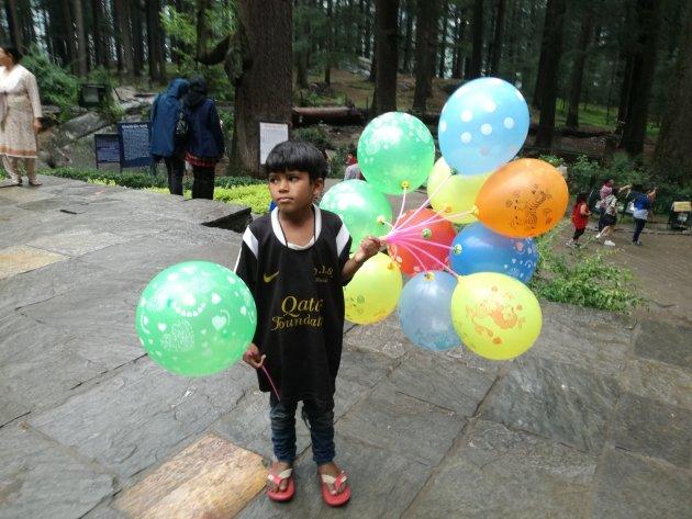 Ballonnen verkoper.