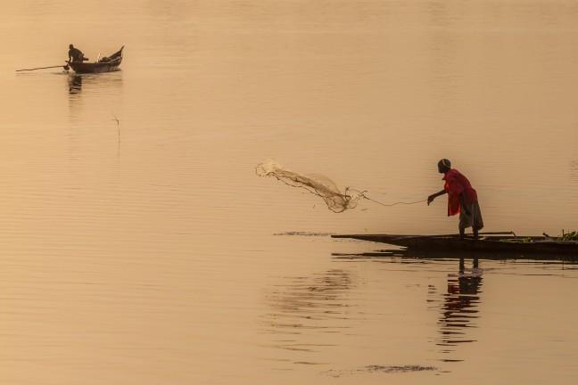 Vissen op de Niger