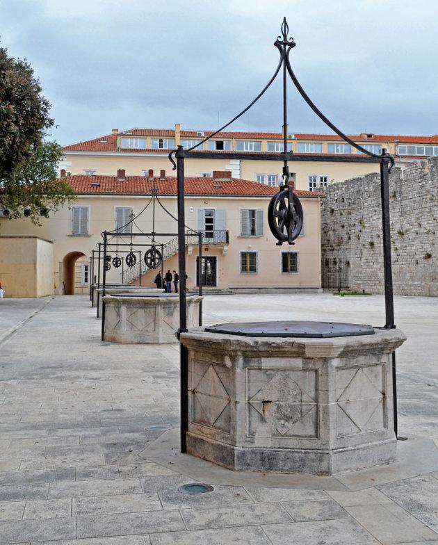 Oude waterputten in Zadar