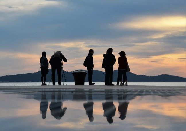 Reflectie in Zadar