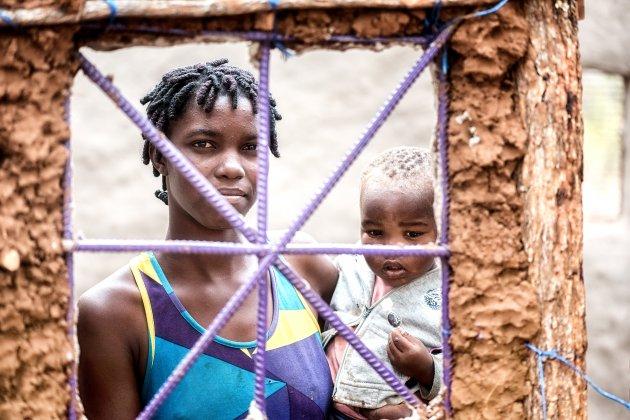 Tukongote dorp Zambia