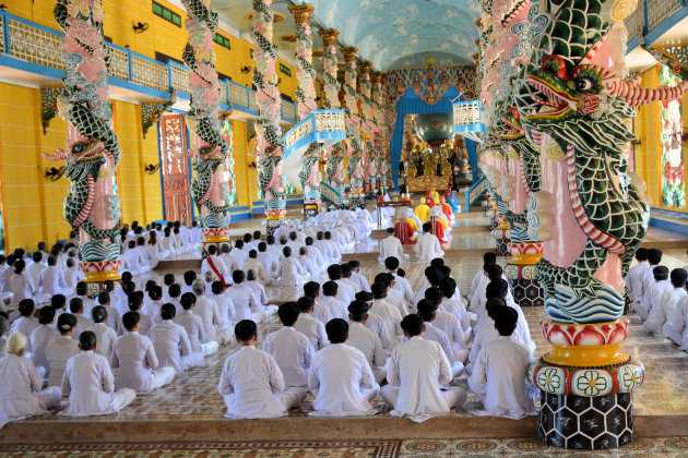 Kleurrijke tempel in Tay Ninh
