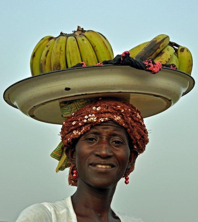 Bananenverkoopster