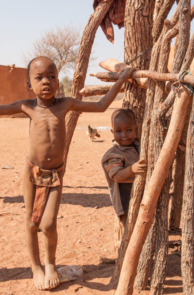 Himba dorpje
