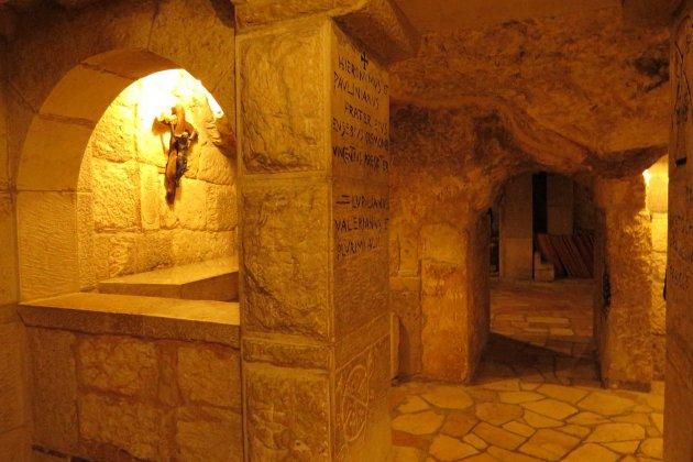 In de catacomben van de Geboortekerk