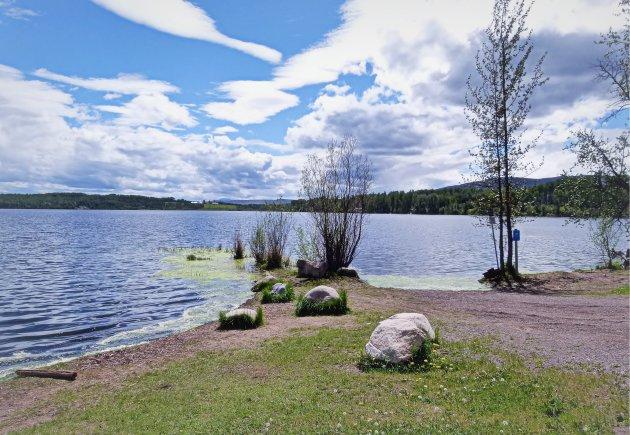 Uitzicht over Round Lake