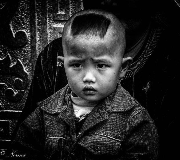 Portret van een Chinees jongetje