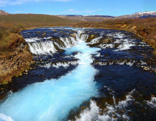 Bruarfoss, the Blue Waterfall.