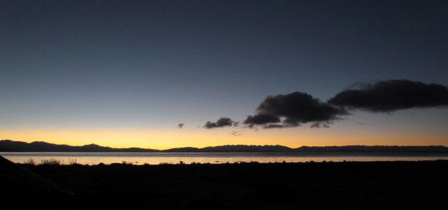 Sunrise over Manasarovar