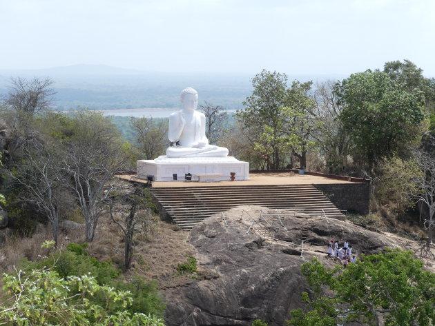 Schitterende buddha, in schitterend Mihintale