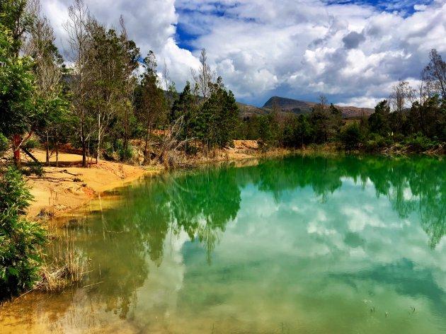 Groene meertjes van Pozos Azules