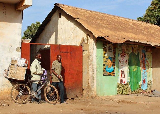 Beschilderde huisjes