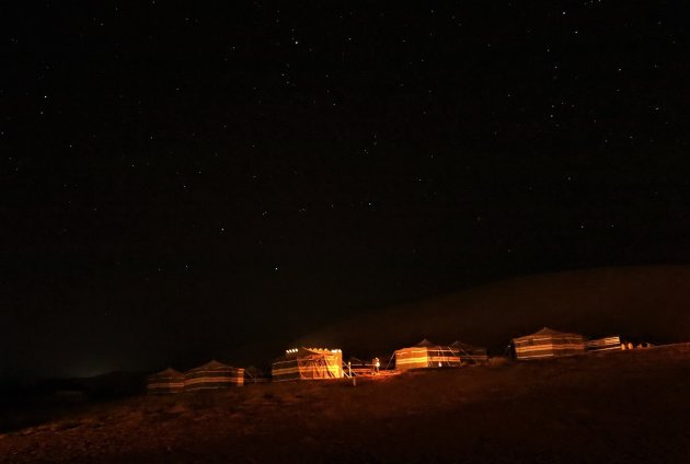Wahibi Sands by night